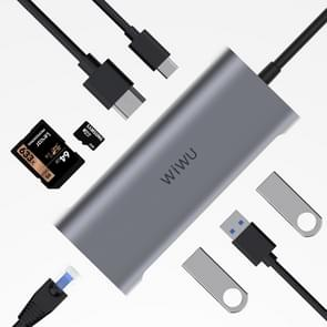 WIWU 831 8 In 1 Type-C / USB-C Multifunctional Extension HUB Adapter