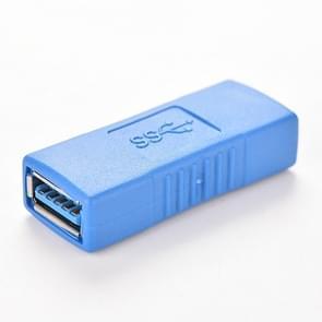 USB 3.0 Type A Female om een vrouwelijke connector AF-adapterconverter uit te zoeken voor laptop (blauw)