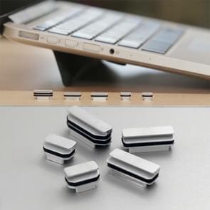 BASEQI iHUT-100 verborgen aluminium legering anti-stof stekker voor MacBook Pro Retina 13 3/15 inch laptops