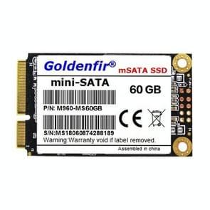 Goldenfir 1.8 inch Mini SATA Solid State Drive, Flash Architecture: TLC, Capacity: 60GB