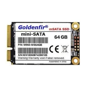 Goldenfir 1.8 inch Mini SATA Solid State Drive, Flash Architecture: TLC, Capacity: 64GB