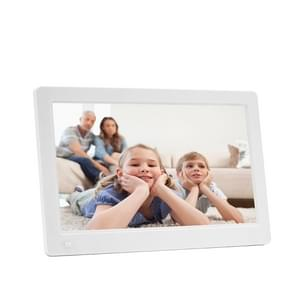 11.6-inch IPS Digital Photo Frame Full View 1920*1080 Electronic Photo Album Advertising Machine(White)