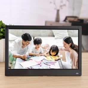 12 5 inch FHD LED Display Digitaal Fotoframe met Houder & Afstandsbediening  MSTAR V56-programma  ondersteuning USB / SD-kaartingang (zwart)