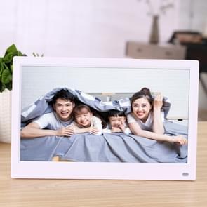 12 5 inch FHD LED Display Digital Photo Frame met Holder & Afstandsbediening  MSTAR V56 Program  Support USB / SD Card Input (Wit)