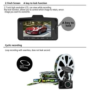GS98C Car DVR Camera 2.7 inch LCD Screen HD 2304 x 1296P 170 Degree Wide Angle Viewing, Support Motion Detection / TF Card / G-Sensor / HDMI(Black)