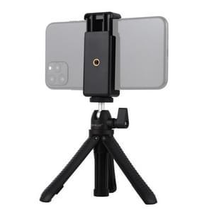 PULUZ Selfie Sticks Tripod Mount + Telefoonklem met statiefadapter & lange schroef(zwart)
