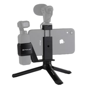 PULUZ Mini Metal Desktop Tripod Mount + Metal Phone Clamp Mount + Expansion Fixed Stand Bracket for DJI OSMO Pocket