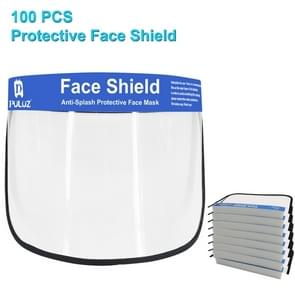 100 PCS Puluz Anti-Saliva Splash Anti-Spitting Anti-Fog Anti-Oil Protective Face Shields Masker met elastische band