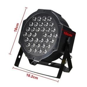36W 36 LED's DMX512 RGB LED PAR Light met afstandsbediening  Strobe + Sound Control + Zelfrijdend  AC 100-240V