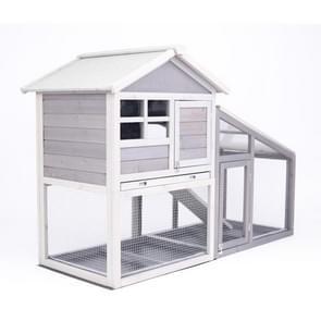 [Amerikaans pakhuis] Wood Pet House Kleine Dierenkooi  Grootte: 145x64.8x100cm