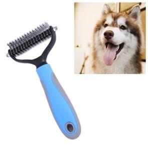 Huisdier kam Beauty Cleaning Supplies hond roestvrijstaal hond kam, grootte: 18x5cm (blauw)