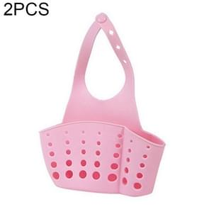 2 PCS Kitchen Portable Hanging Drain Bag Basket Bath Storage Gadget Tools Sink Holder, Random Color Delivery