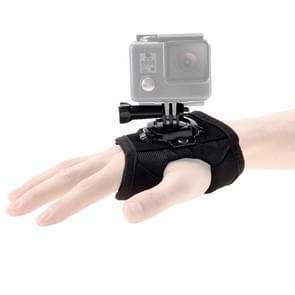 [VAE-magazijn] PULUZ 360 graden Rotatie Handschoen Stijl Palm Strap Mount Band voor GoPro HERO9 Zwart / HERO8 Zwart / HERO7 /6 /5 /5 Sessie /4 Sessie /4 /3+ /3 /2 /1  Xiaoyi en andere actiecamera's