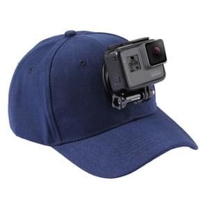 PULUZ honkbal hoed met J-Hook Buckle Mount & schroeven voor  GoPro HERO 7 / 6 / 5 / 5 session / 4 session / 4 / 3+/ 3 / 2 / 1    Xiaoyi nl andere actie Cameras(donker blauw)