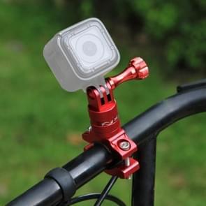 PULUZ 360 graden draaiend aluminium stuur Adapter stuurhouder met schroeven voor  GoPro HERO 7 / 6 / 5 / 5 session / 4 session / 4 / 3+/ 3 / 2 / 1   Xiaoyi Sport Camera