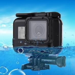 [UAE voorraad] PULUZ 2 in 1 voor GoPro HERO (2018)/HERO7 Black/6/5 back cover + 30m waterdichte behuizing beschermhoes met gesp basisbevestiging & schroef  geen noodzaak om lens te verwijderen