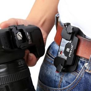 PULUZ Capture Camera Clip Aluminium Alloy Quick Release Clip met plaat