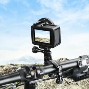 PULUZ 360 graden rotatie fiets aluminium stuur adapter mount met schroef voor GoPro HERO7/6/5 sessie/5/4 sessie/4/3 +/3/2/1  andere sport camera's (zwart)