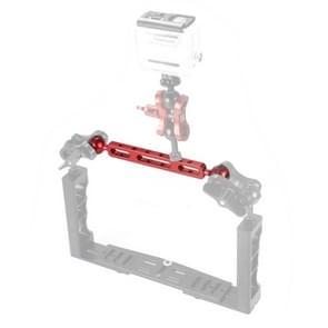 PULUZ 7 87 inch 20cm aluminiumlegering dubbele ballen arm voor onderwater toorts/video licht  bal diameter: 2 54 cm (rood)