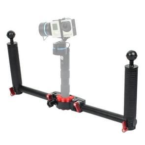 PULUZ Dual Handheld Grip Aluminum Alloy Stabilizer for DJI RONIN-S / MOZA / Zhi Yun / FeiyuTech Gimbal
