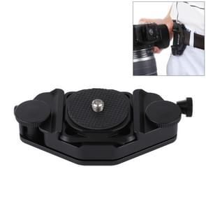 PULUZ Capture Camera Clip CNC Aluminium Alloy Quick Release Clip with Plate (Zwart)