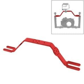 PULUZ duik tray beugel dubbele handvat grip handheld Expansion Mount systeem (rood)