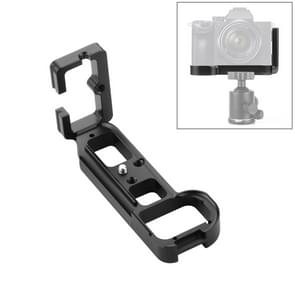 PULUZ 1/4 inch Vertical Shoot Quick Release L Plate Bracket Base Holder for Sony A7R / A7 / A7S / A7R2 / A7S2(Zwart)