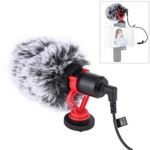 PULUZ Professional Interview Condenser Video Shotgun Microfoon met 3 5 mm audiokabel voor DSLR & DV Camcorder