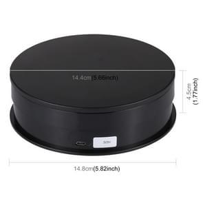 PULUZ 15cm Aanpassingssnelheid USB Elektrische Roterende Draaitafel Display Stand Video Shooting Props Draaitafel voor fotografie  Load 15kg (Zwart)