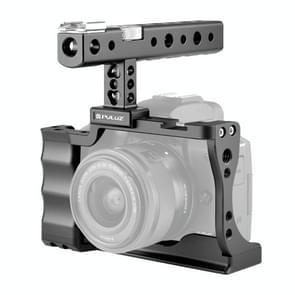 PULUZ Video Camera Cage Stabilisator met handvat voor Canon EOS M50(Zwart)