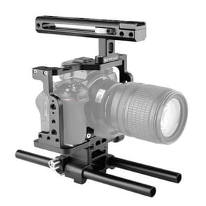 PULUZ Video Camera Cage Stabilisator met Handle & Rail Rod voor Nikon Z6 / Z7 (Zwart)