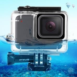 PULUZ 45m Underwater Waterproof Housing Diving Case for GoPro HERO7 Silver / HERO7 White, with Buckle Basic Mount & Screw(Transparent)