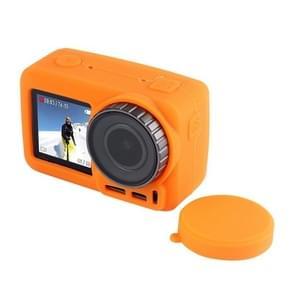 PULUZ silicone beschermhoes met lens afdekking voor DJI osmo actie (oranje)