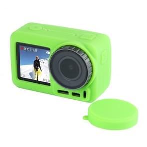 PULUZ silicone beschermhoes met lens afdekking voor DJI osmo actie (groen)