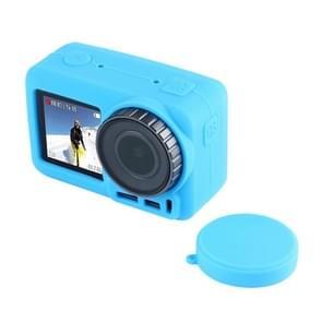 PULUZ silicone beschermhoes met lens afdekking voor DJI osmo actie (blauw)