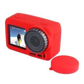 PULUZ silicone beschermhoes met lens afdekking voor DJI osmo actie (rood)
