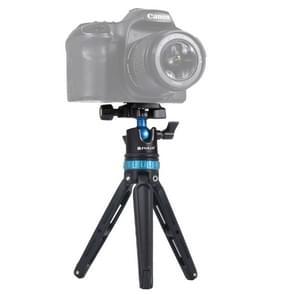 PULUZ Pocket Mini verstelbare metalen Desktop statief mount met 360 graden bal hoofd voor DSLR & digitale camera's  verstelbare hoogte: 11-20.2 cm (blauw)
