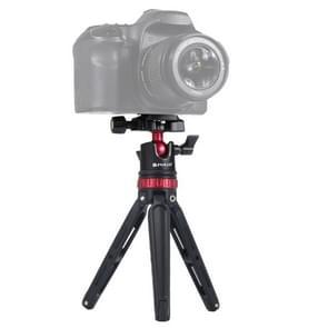 PULUZ Pocket Mini verstelbare metalen Desktop statief mount met 360 graden balhoofd voor DSLR & digitale camera's  instelbare hoogte: 11-20.2 cm (rood)