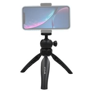 PULUZ 20cm Pocket kunststof statief mount met 360 graden bal hoofd voor smartphones  GoPro  DSLR camera's (zwart)
