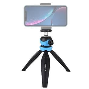 PULUZ 20cm Pocket Plastic Statief mount met 360 graden Bal Hoofd voor smartphones  GoPro  DSLR Camera's (Blauw)