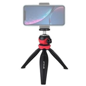 PULUZ 20cm Pocket Plastic Statief mount met 360 graden Bal Hoofd voor smartphones  GoPro  DSLR Camera's (Rood)