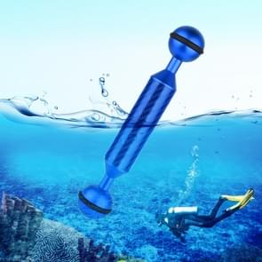 PULUZ 5 inch 12.7 cm lengte 20 8 mm diameter dubbele ballen Carbon Fiber drijvende arm  bal diameter: 25mm (blauw)