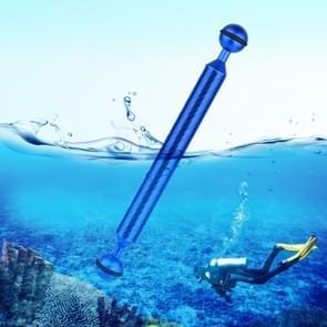 PULUZ 9 inch 22 8 cm lengte 20 8 mm diameter dubbele ballen koolstofvezel drijvende arm  bal diameter: 25mm (blauw)
