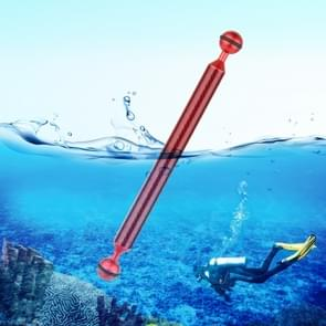 PULUZ 11 inch 27.9cm Length 20.8mm Diameter Dual Balls Carbon Fiber Floating Arm, Ball Diameter: 25mm(Red)