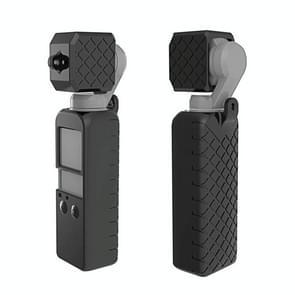 PULUZ  2 in 1 Diamond Texture Silicone Cover Case Set for DJI OSMO Pocket(Black)