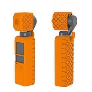 PULUZ  2 in 1 Diamond Texture Silicone Cover Case Set for DJI OSMO Pocket(Orange)