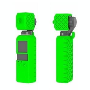 PULUZ  2 in 1 Diamond Texture Silicone Cover Case Set for DJI OSMO Pocket(Green)