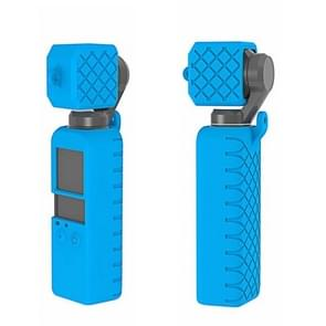 PULUZ  2 in 1 Diamond Texture Silicone Cover Case Set for DJI OSMO Pocket(Blue)