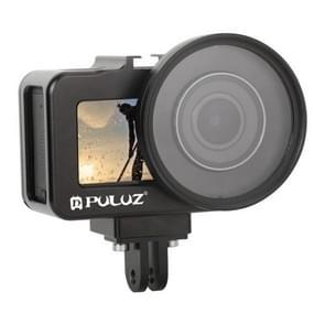 PULUZ behuizing CNC aluminiumlegering beschermende kooi met 52mm UV lens voor DJI osmo actie (zwart)