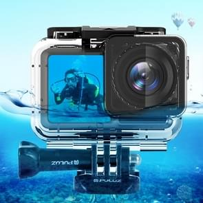 PULUZ 61m Underwater Waterproof Housing Diving Case for DJI Osmo Acition, with Buckle Basic Mount & Screw